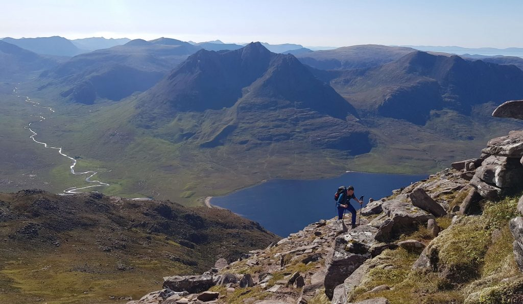 James Forrest making his way up An Teallach in the North West Scottish Highlands