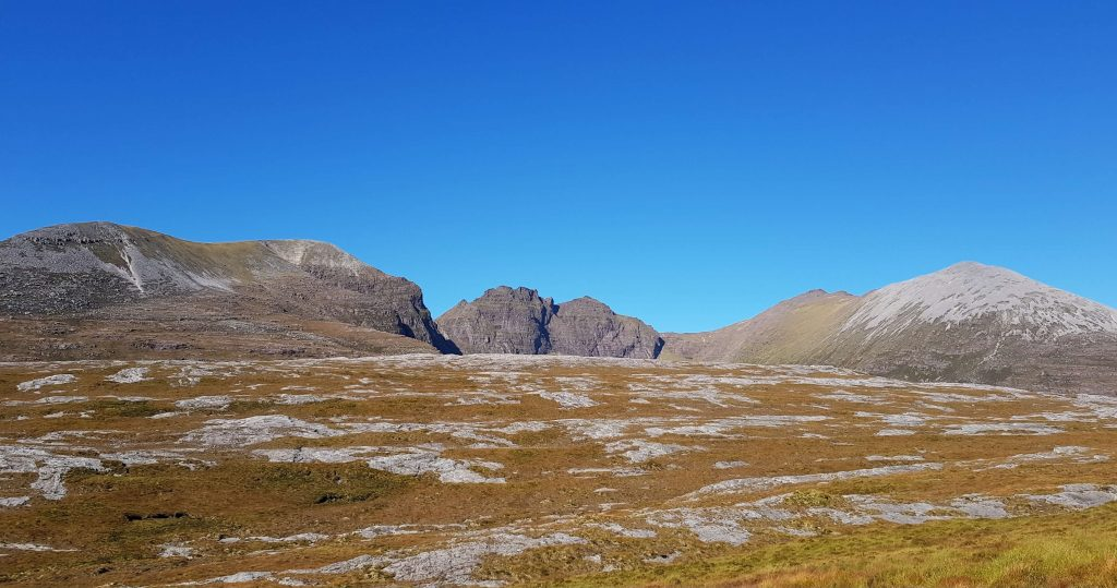 An Teallach from the Cape Wrath Trail in the north west Scottish highlands