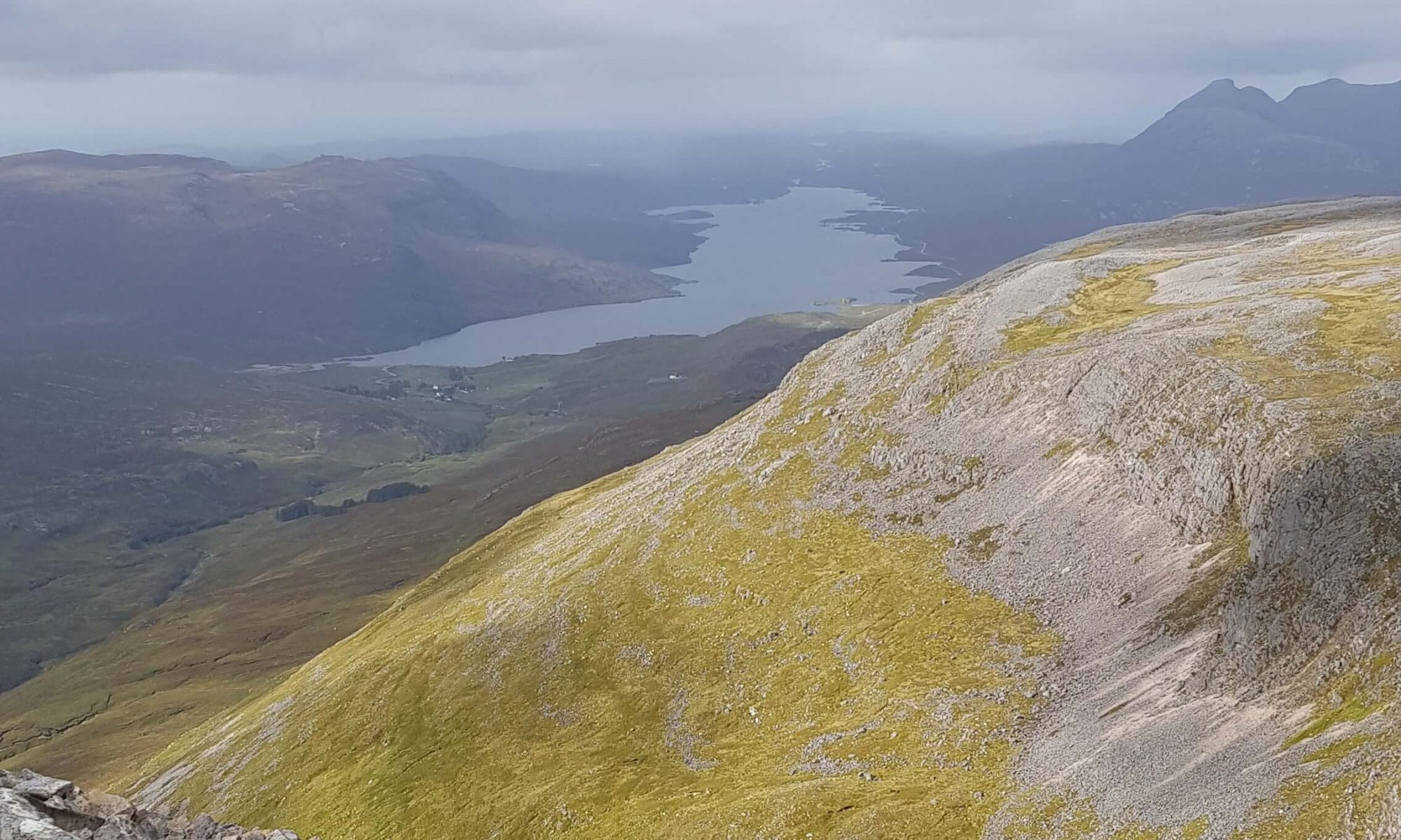 Loch Assynt as seen from the slopes of Conival