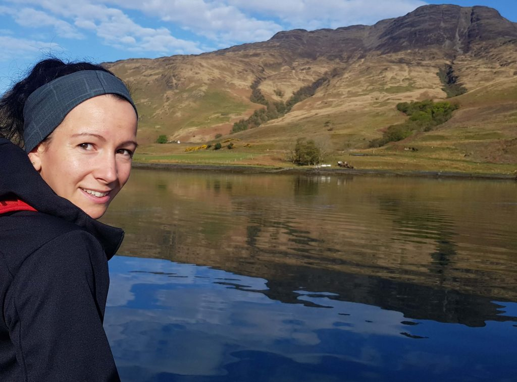 Photo of Adventurer Nic on a Loch in the Scottish Highlands