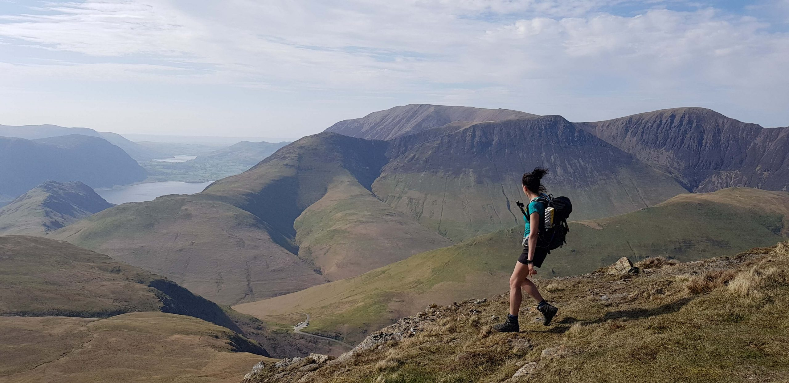 Adventurer Nic on Robinson during her Wainwright bagging challenge
