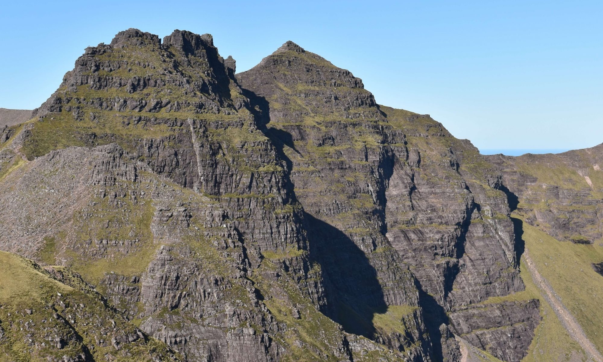 Sgurr Fiona, viewed from the ascent. Sgurr Fiona is a Munro summit of An Teallach in the north west Scottish highlands