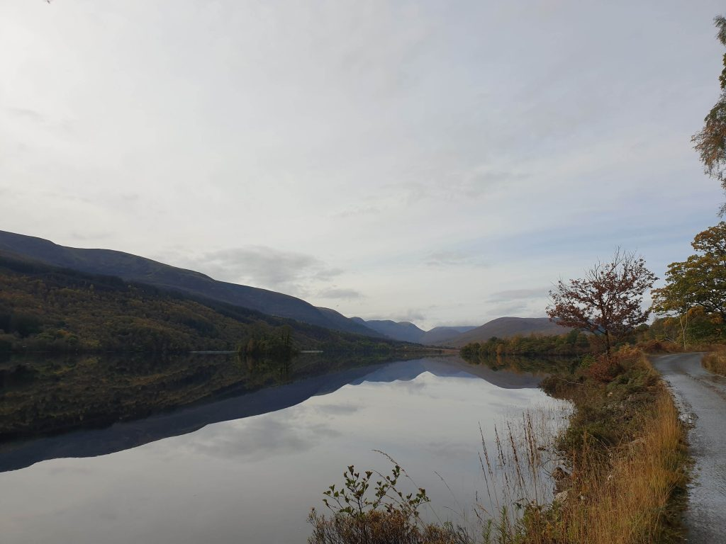 View across Loch Arkaig from the road