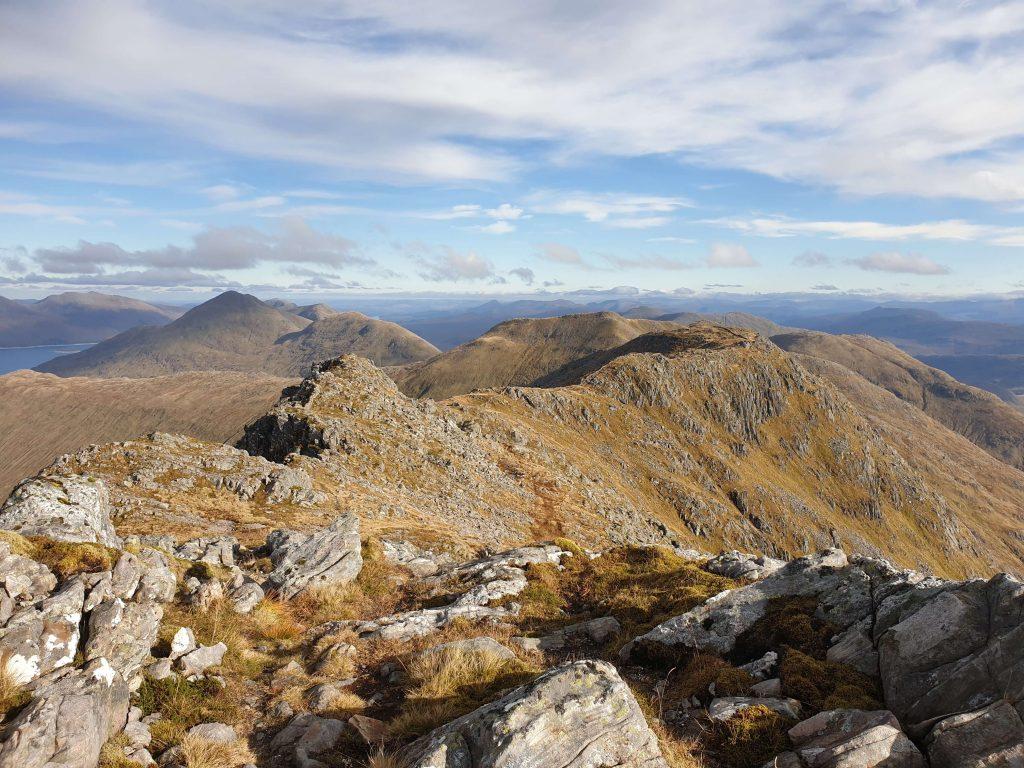 View from Garbh Chioch Mhor towards Sgurr nan Coireachan