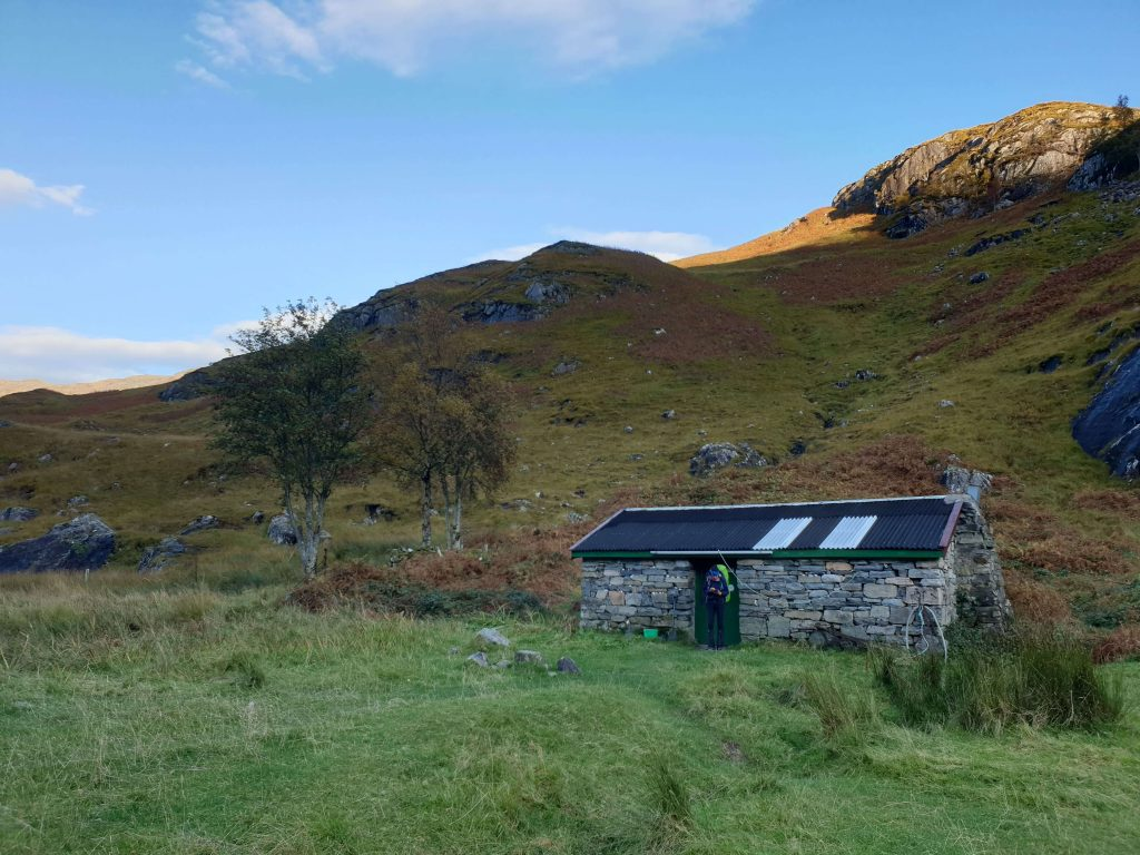 Morning at Sourlies Bothy in the Scottish Highlands