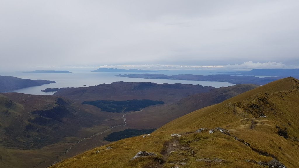 The islands of Rum and Eigg from Ladhar Bheinn