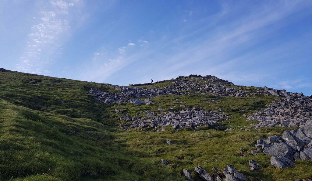 James Forrest descending Sgurr a' Bhealaich Dheirg towards Aonach Meadhoin