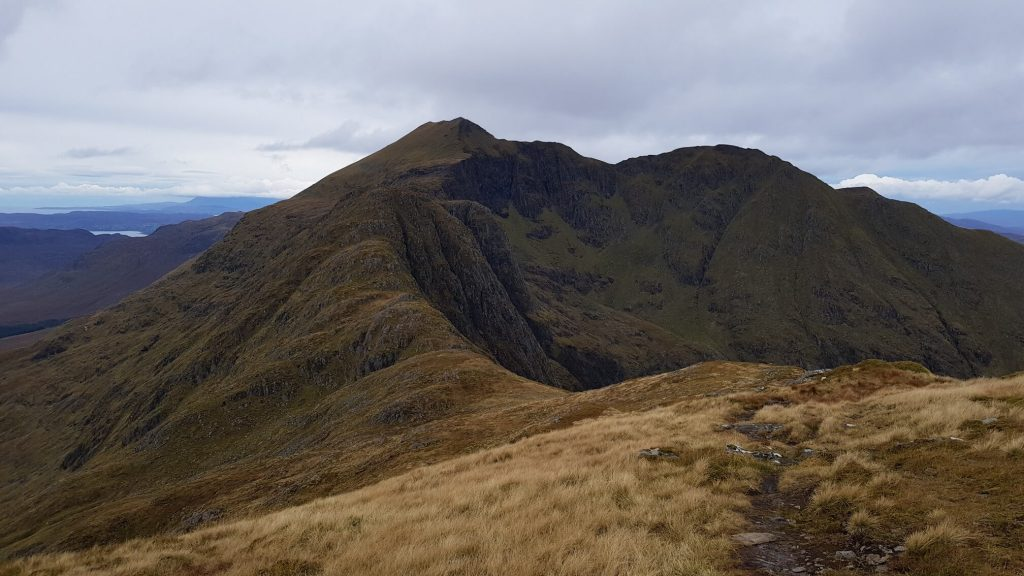 Ladhar Bheinn from the top of Stob a' Chearcaill