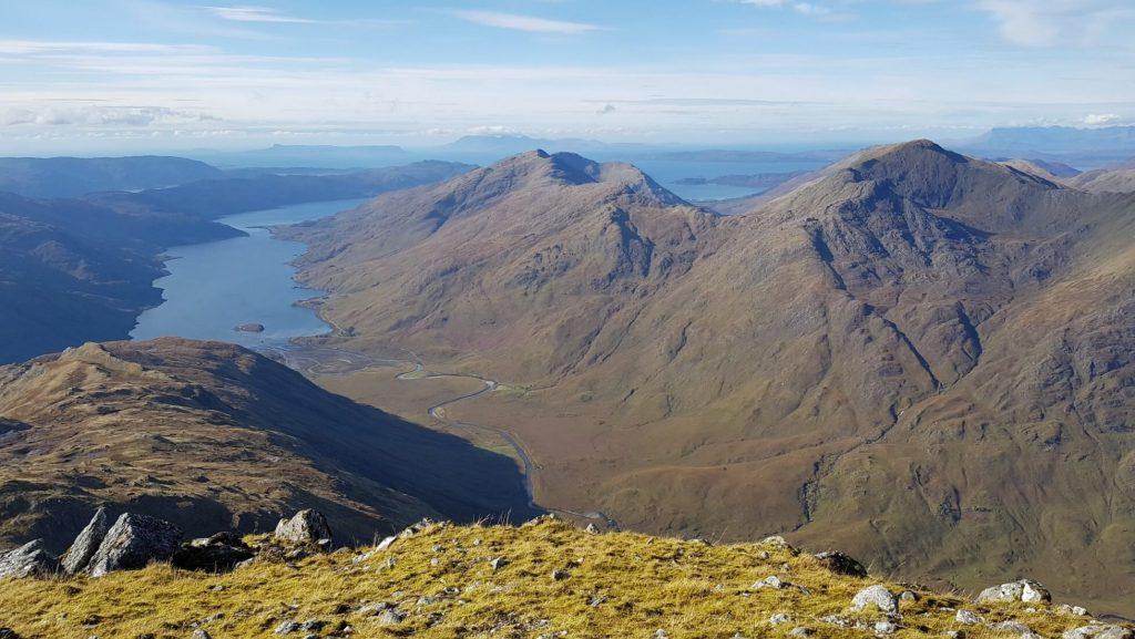 Views of Loch Nevis and the River Carnach from Sgurr na Ciche, Knoydart