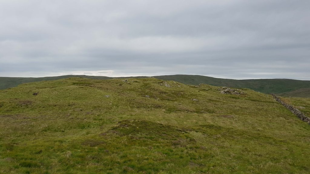 Approaching the summit of Long Crag