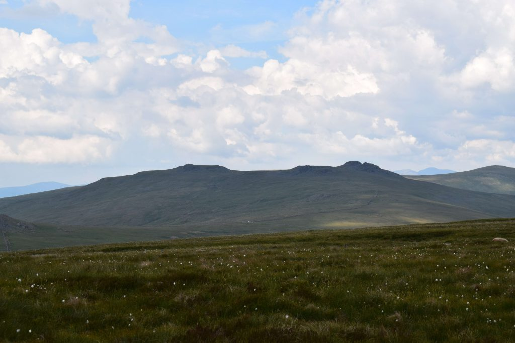 View towards Kinmont Buck Barrow and Buck Barrow from Stoupdale Head