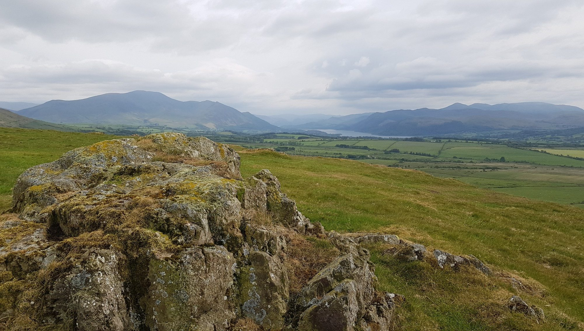 View from the summit of Caermote Hill in the Lake District
