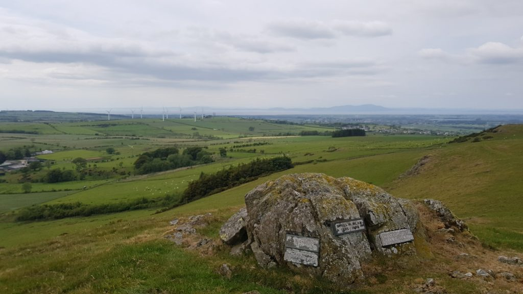 Memorial at the top of Caermote Hill