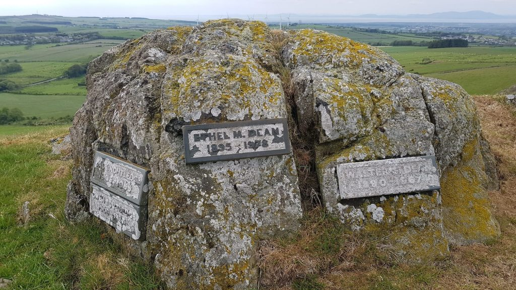 Memorial on top of Caermote Hill