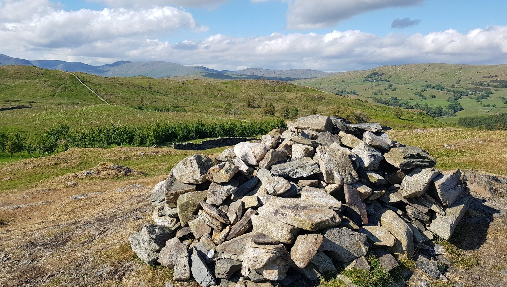 The summit cairn of Reston Scar