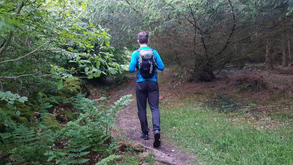 James Forrest entering Setmurthy Woods