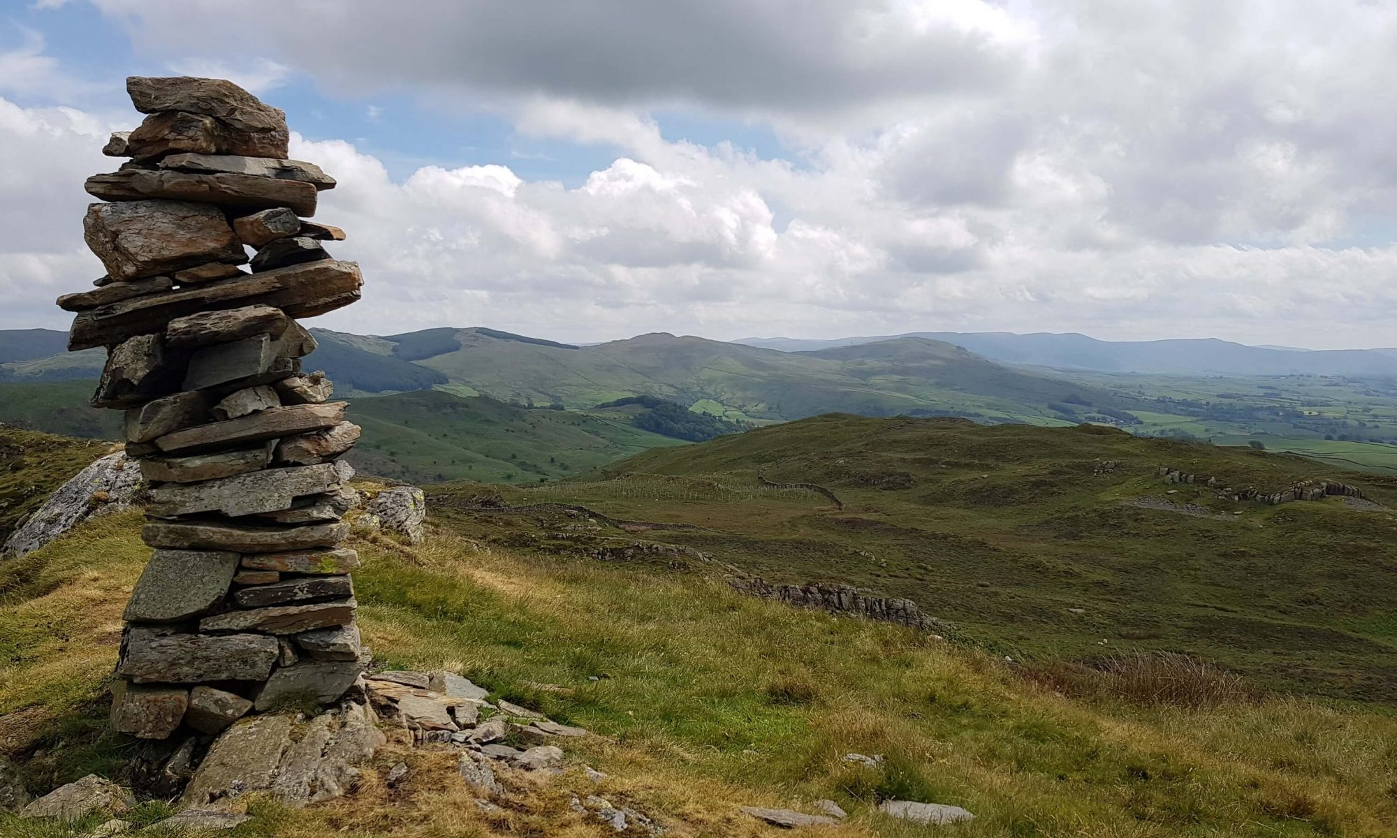 The summit of Whiteside Pike on the Bannisdale Horseshoe, Lake District