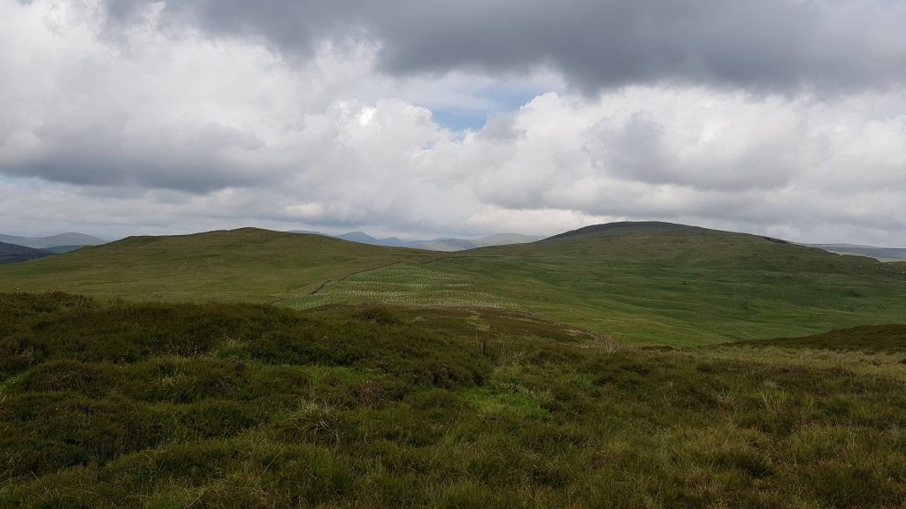 Todd Fell and Capplebarrow from the descent of Whiteside Pike