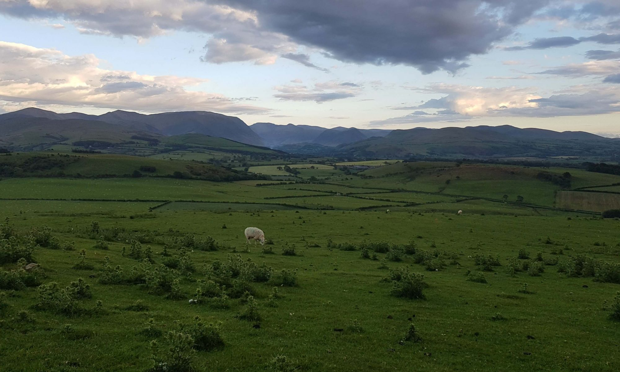 View from Watch Hill, one of Wainwright's Outlying Fells of Lakeland