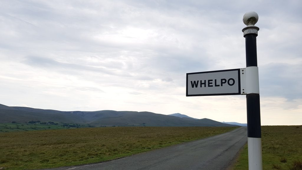 Sign post to Whelpo on the T junction