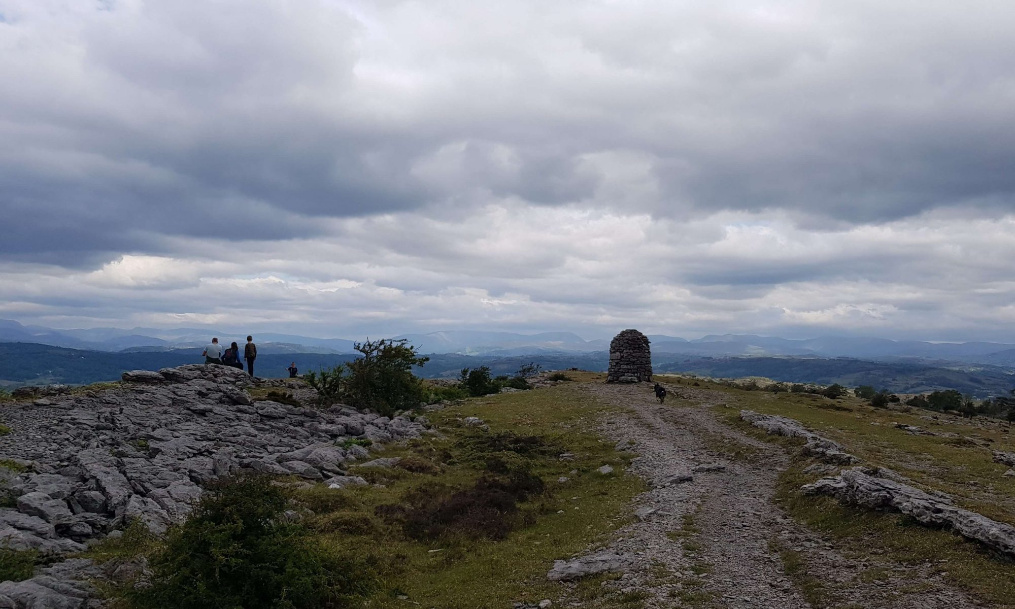 The summit of Whitbarrow, one of Wainwright's Outlying Fells of Lakeland