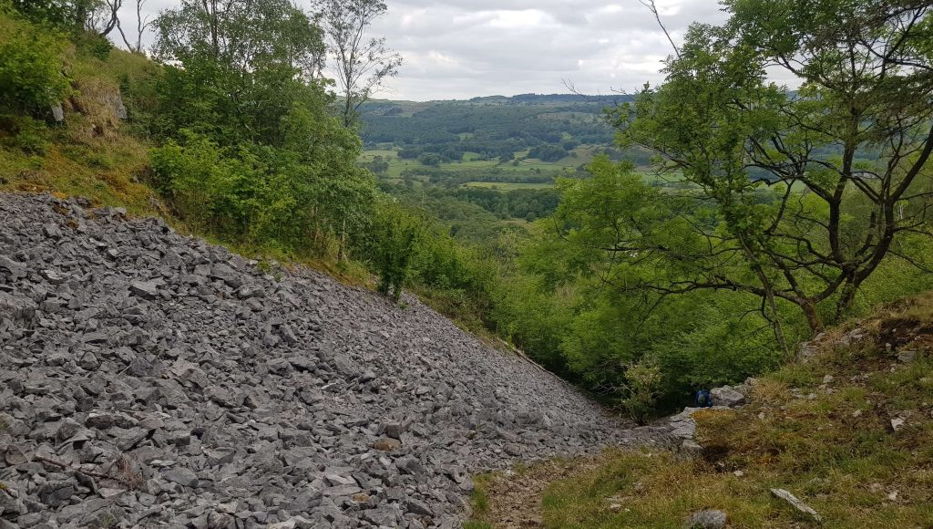 The steep section on the descent of Whitbarrow