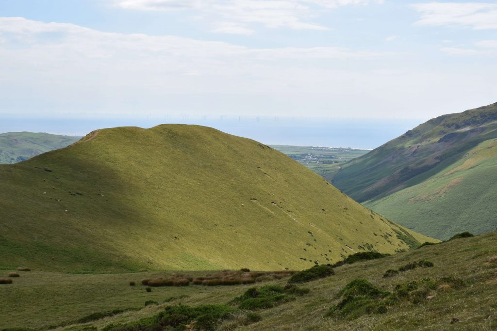Looking back on the ascent of White Combe over White Hall Knott
