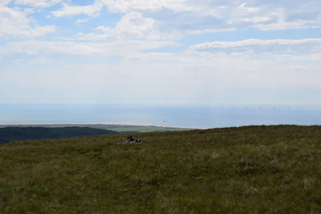 Wind turbines in the sea from White Combe
