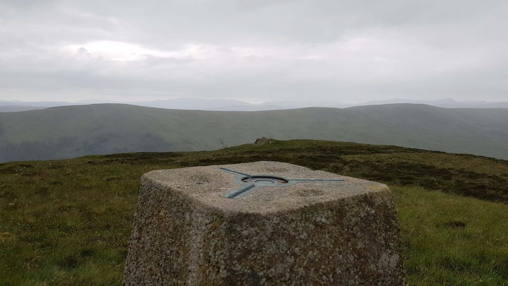 Trig pillar on White Howe on the Bannisdale Horseshoe