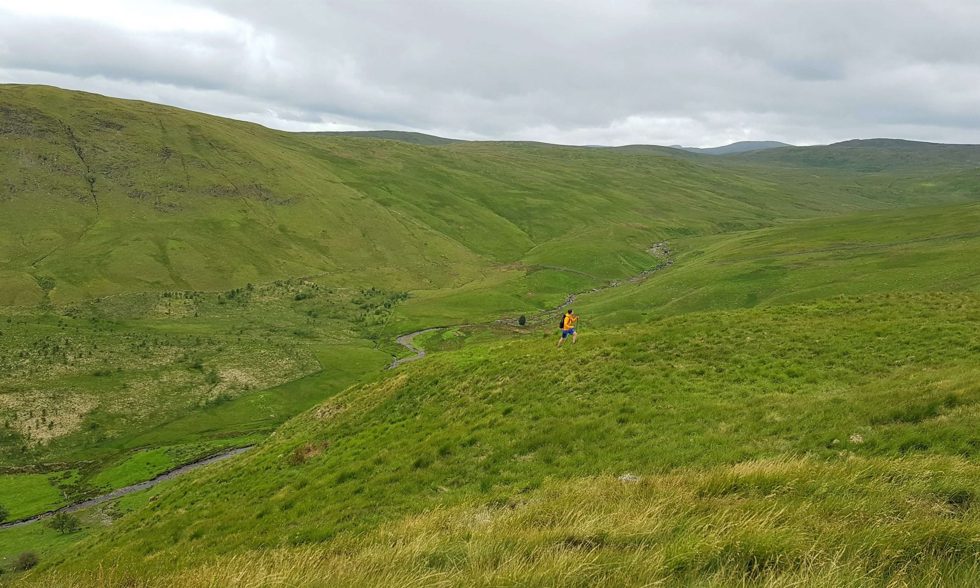 James Forrest on High House Bank on the Crookdale Horseshoe in the Shap Fells