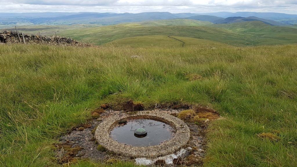 The old Ordnance Survey trig ring on Great Yarlside