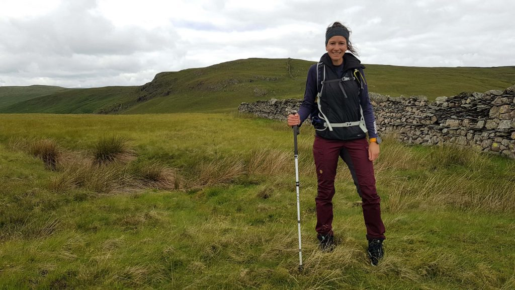 Adventurer Nic on Little Yarlside, the 9th of the Shap Fells we hiked that day