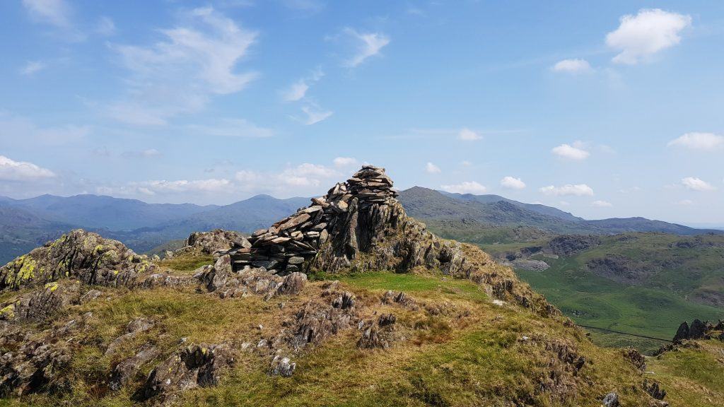 Approaching the summit of Stickle Pike