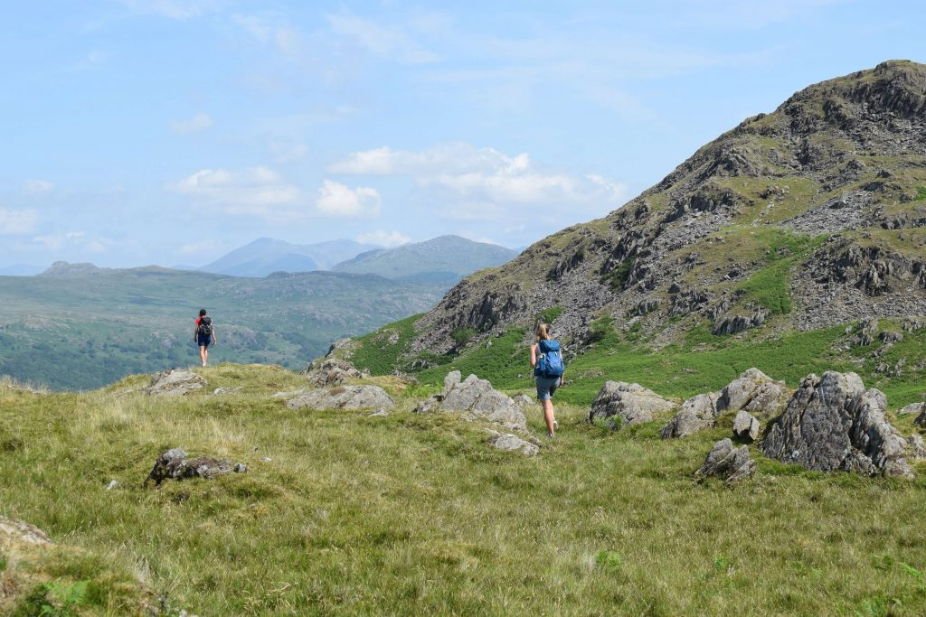 Adventurer Nic and Laura en route to Stickle Pike