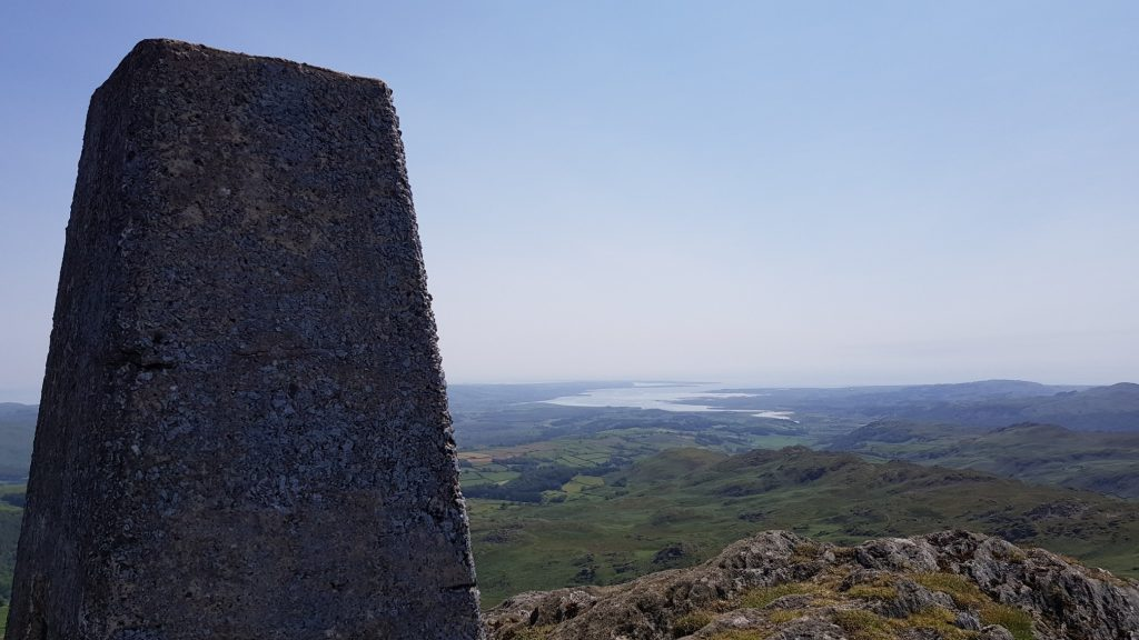 View to Duddon Sands from the trig point of Caw