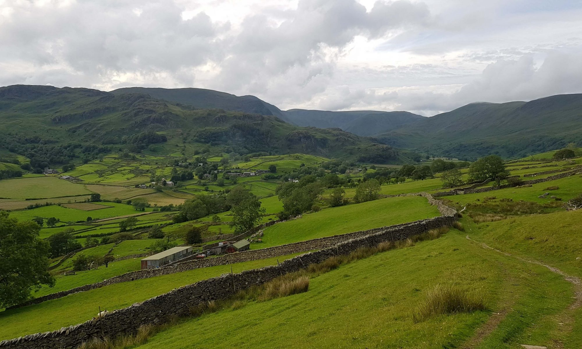 View back to Kentmere from the ascent of Green Quarter Fell