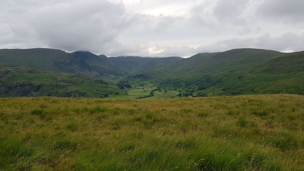 View to the Kentmere Horseshoe from the summit of Hollow Moor - Green Quarter Fell