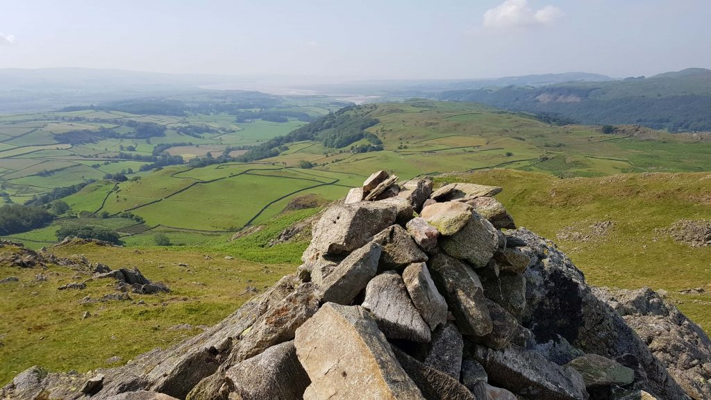 The summit cairn of Great Stickle