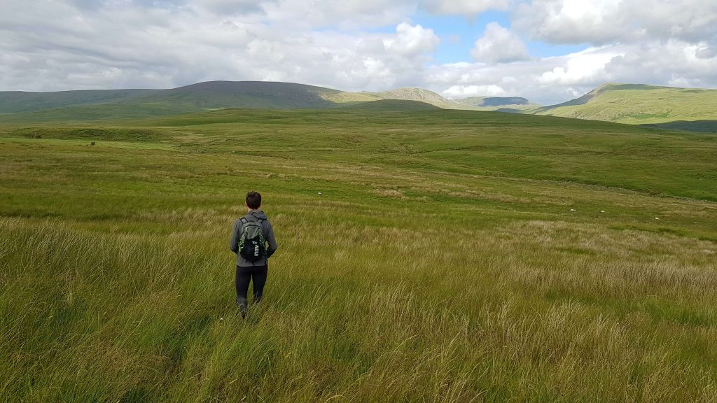 James Forrest descending Ponsonby Fell