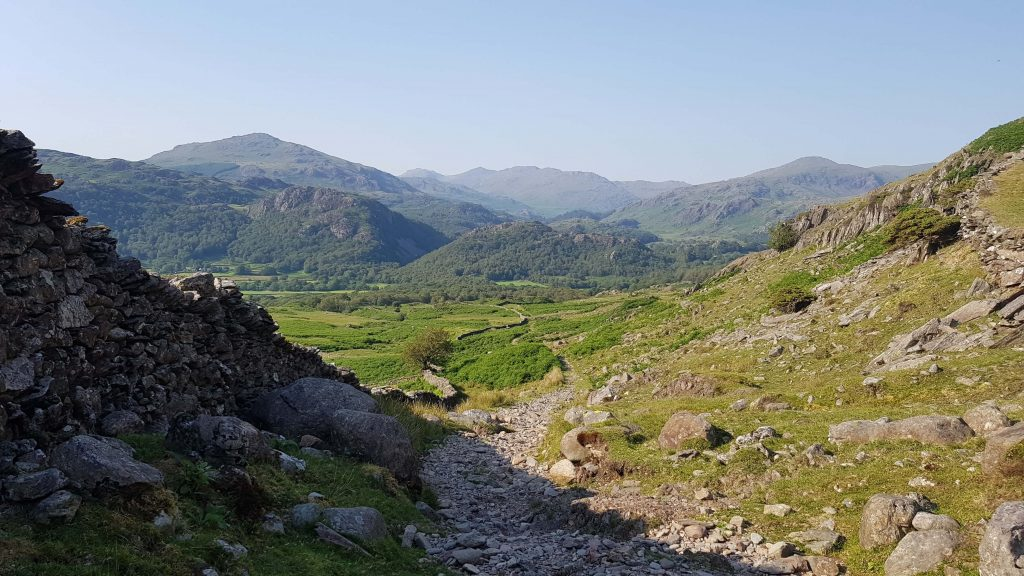 Looking back over stunning views of Lakeland