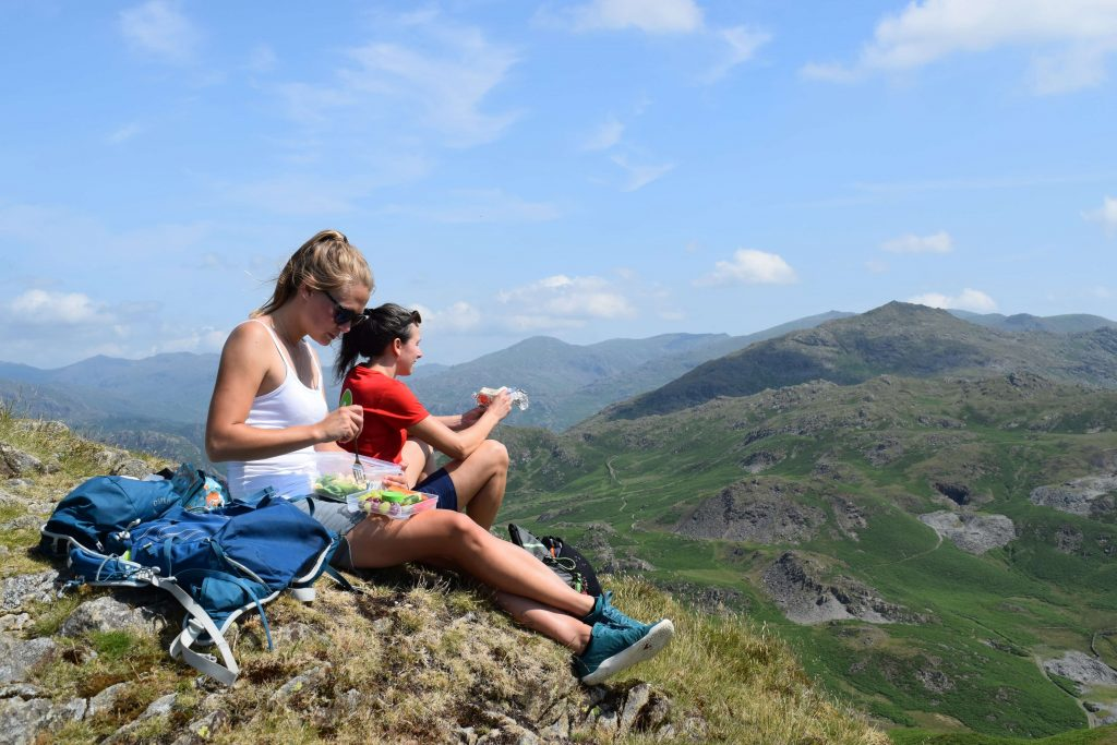 Lunch on Stickle Pike whilst looking over the rest of the route
