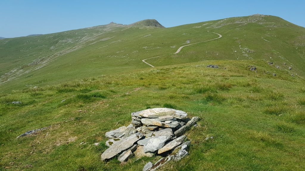 The summit of Walna Scar looking to Brown Pike