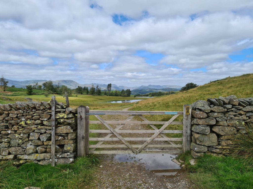 Gate on the ascent of Latterbarrow