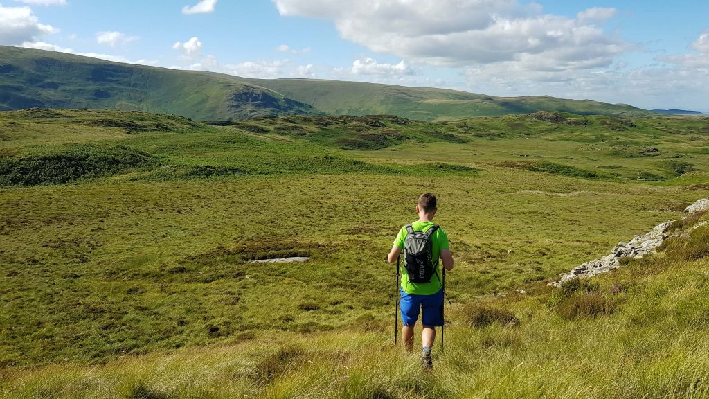 James Forrest descending Hare Shaw