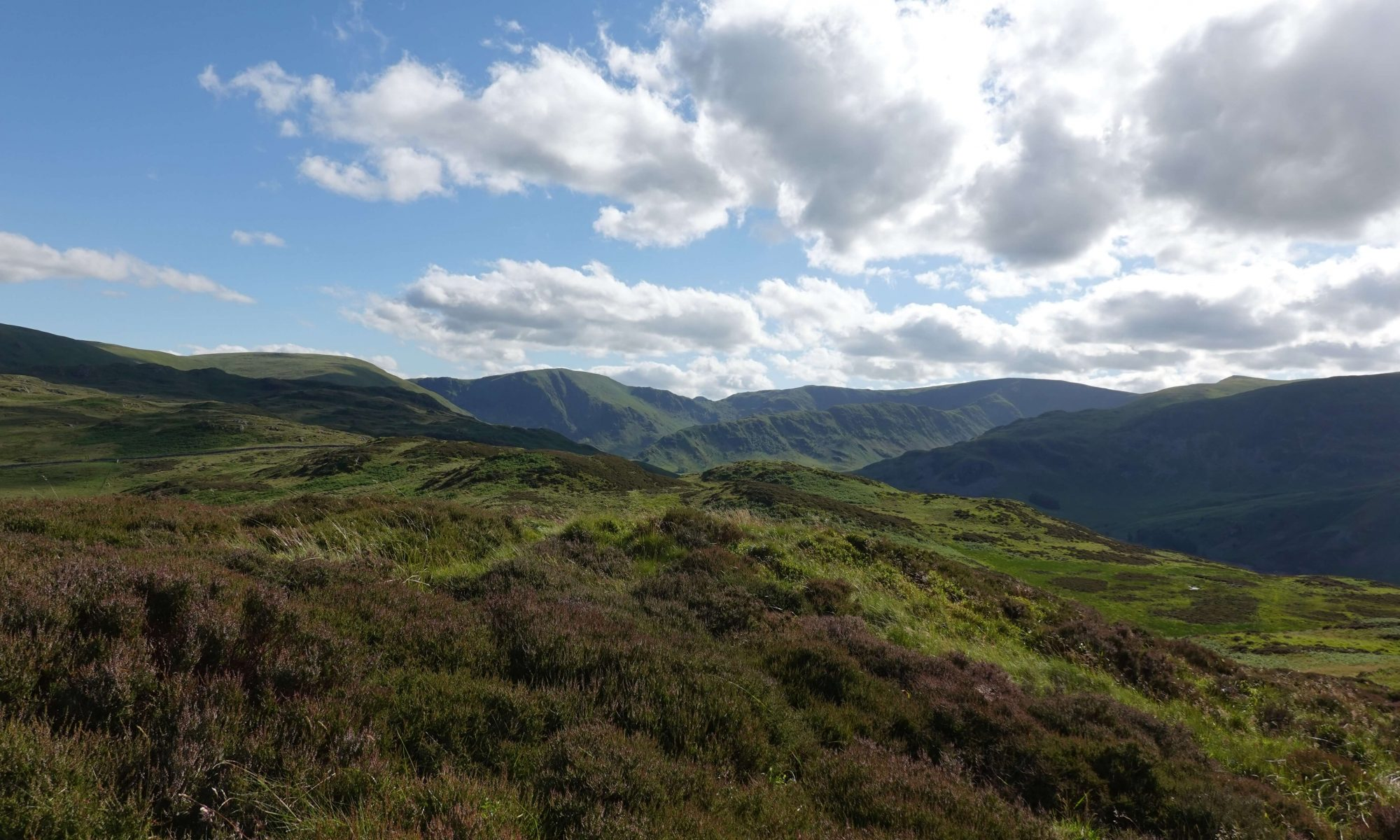 Views from the Naddle Horseshoe across the far eastern Lake District fells