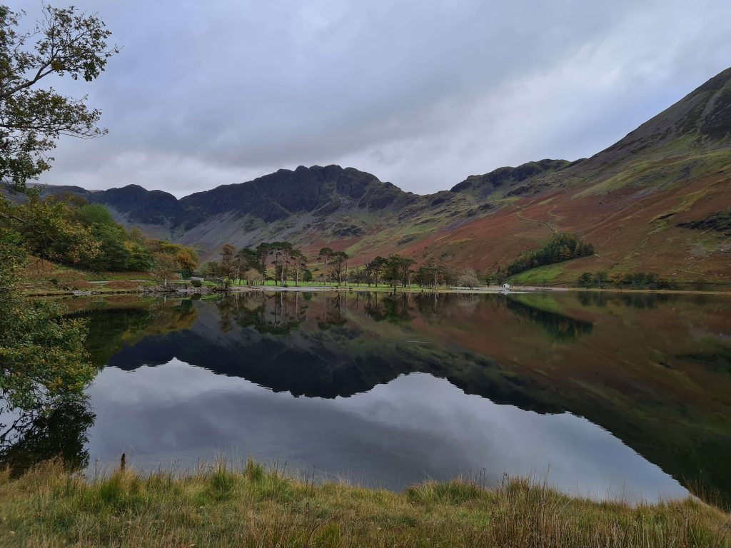Reflections on Buttermere in the Lake District during #WalkHome2020