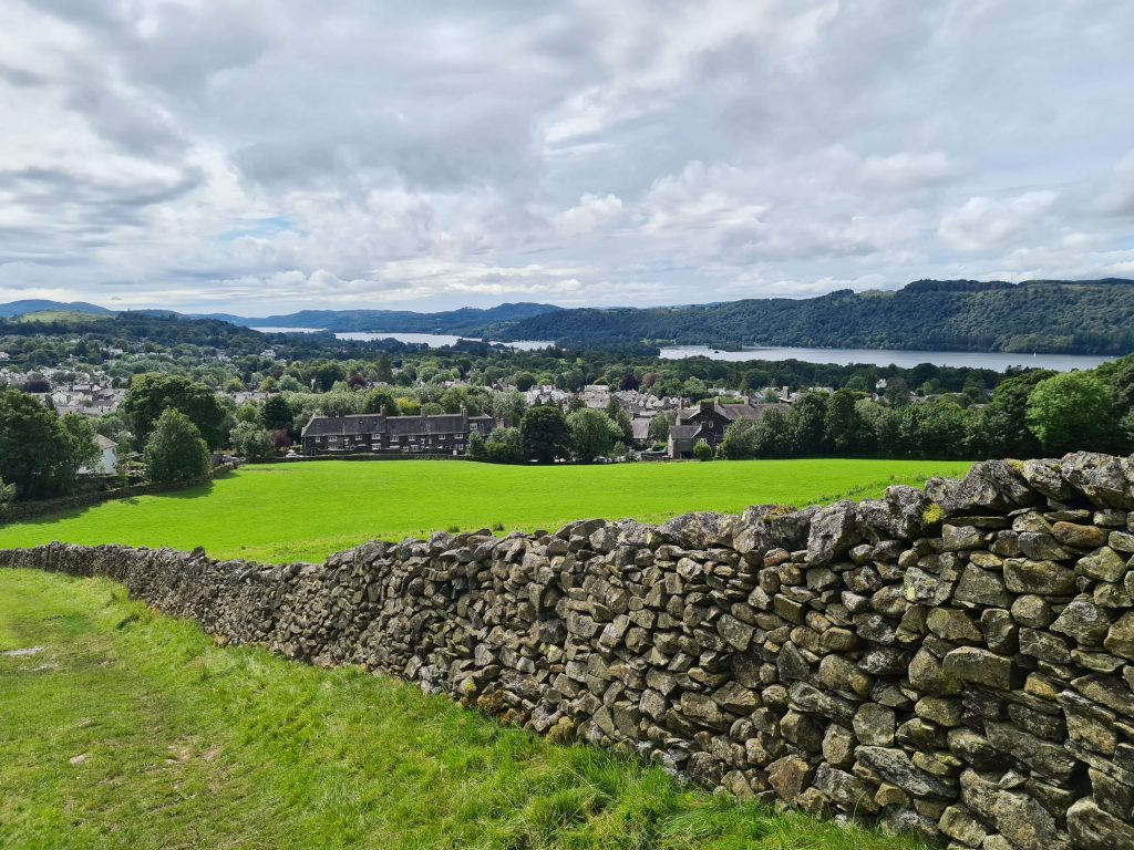 Following the wall with views over Windermere