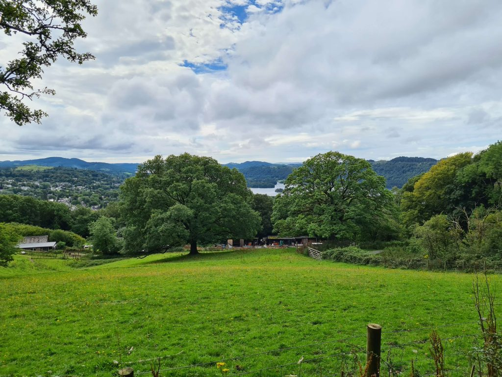Views on the ascent of Orrest Head