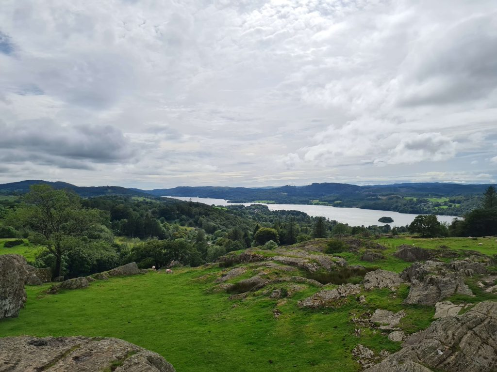 Looking south down Lake Windermere from Brant Fell