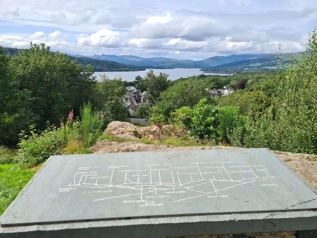 Biskey Howe viewpoint over Lake Windermere